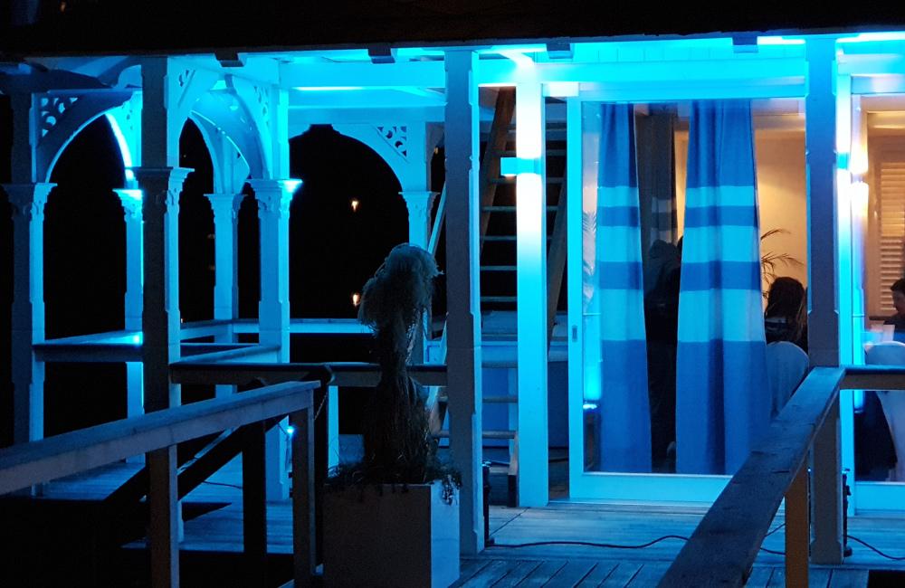 Ambientebeleuchtung Filmpräsentation der Lisa Film Happy End am Wörthersee im Werzers Pörtschach am Wörthersee