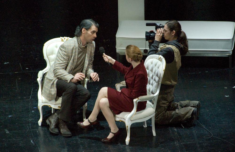 Live Video Bild für die Aufführung Krönung der Poppea im Stadttheater Klagenfurt