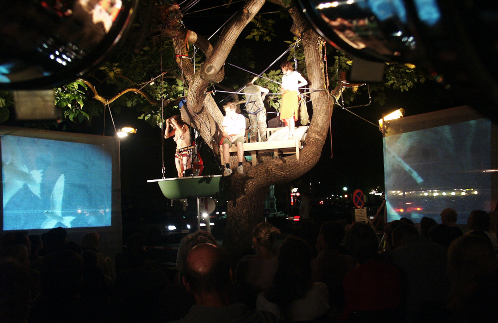 Beleuchtung und Videoprojektion für die Theater im Baum Aufführung in Klagenfurt