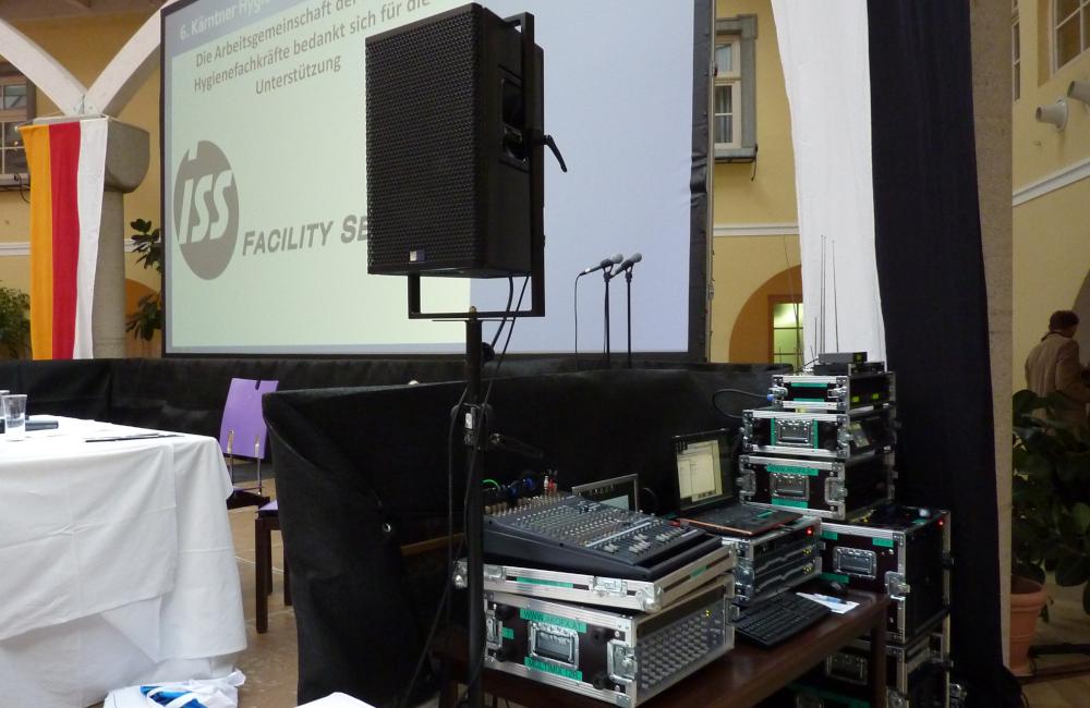 Kongress Hygienesmbosium im Krankenhaus Friesach mit Videoprojektion und Tontechnik