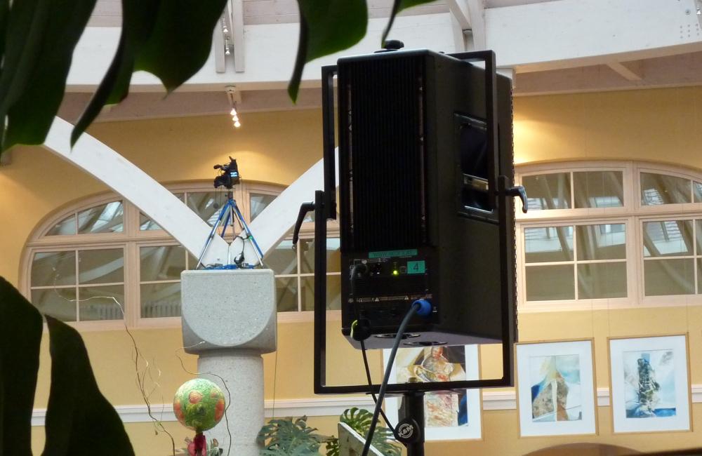 Meyer Sound UPA-1P auf K&M Stativ bei Kongress im Krankenhaus Friesach Kärnten