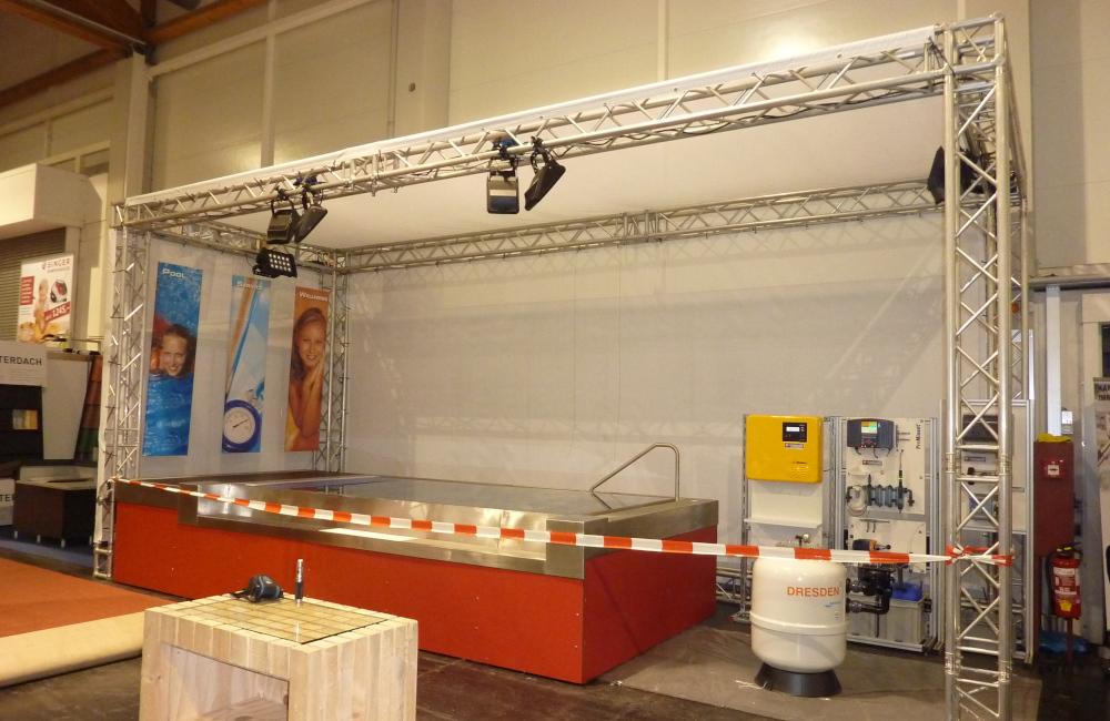 Messestand für die Firma 3-Tech in der Messehalle Klagenfurt Freizeit