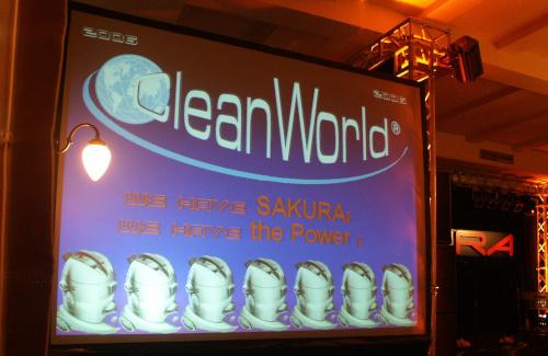 Videoprojektion für Firmenfeier Sakura Cleanworld im Hofbräuhaus München